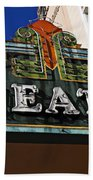 Old Movie Theatre Sign Beach Towel