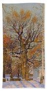 Old Oak-tree In Kolomenskoye Beach Towel