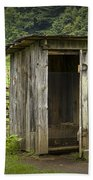 Old Outhouse On A Farm In The Smokey Mountains Beach Towel by Randall Nyhof
