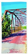 Old Ozark Trail Bridge Beach Towel