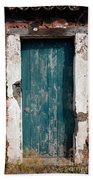 Old Painted Door Beach Towel
