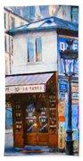 Old Paris Cafe Beach Sheet