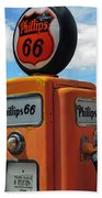 Old Phillips 66 Gas Pump Beach Towel