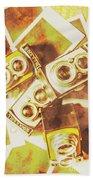 Old Photo Cameras Beach Towel