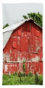 Old Red Barn Johnson County Ia Beach Towel
