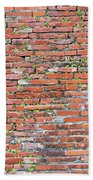 Old Red Brick Wall Beach Towel