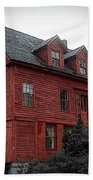 Old Red House In Shelburne Falls Beach Towel