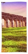Old Roman Aqueduct Beach Towel