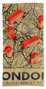 Old Routemaster Way Beach Towel