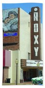 Old Roxy Theater In Muskogee, Oklahoma Beach Towel