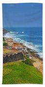 Old San Juan Coastline Beach Sheet