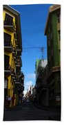 Old San Juan Puerto Rico Downtown On The Corner Beach Towel