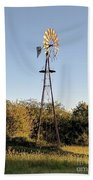 Old Southern Windmill Beach Towel