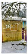Old Stable - Silent Winter Beach Towel