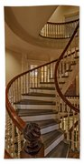 Old State House Spiral Staircase Beach Towel