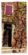 Old Stone House In Provence Beach Towel