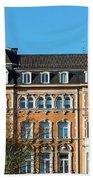 old Town buildings in Aachen, Germany Beach Towel