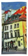 Old Town In Warsaw # 27 Beach Towel