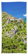 Old Town Knin On The Rock View Beach Towel