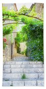 Old Town Of Provence Street Beach Towel