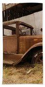 Old Truck In Old Forgotten Places Beach Towel
