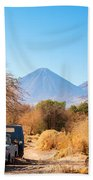 Old Truck In San Pedro De Atacama Beach Towel