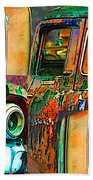 Old Trucks Beach Towel