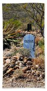 Old Tucson Graveyard Beach Towel