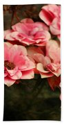 Old Victorian Fuchsia Pink Rose Beach Sheet