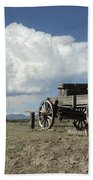 Old Wagon Out West Beach Towel by Jerry McElroy