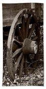 Old Wagon Wheel Beach Towel