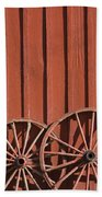 Old Wagon Wheels IIi Beach Towel