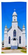 Old Weathered Church On Hill Top Beach Towel