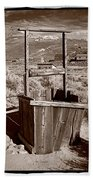 Old Well Bodie Ghost Twon California Beach Towel