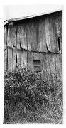 Old West Virginia Barn Black And White Beach Towel