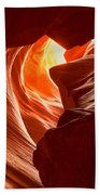 Old Woman In The Canyon Beach Towel