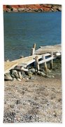 Old Wooden Dock Beach Towel