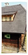 Old Wooden House On Mountain Beach Towel