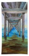 Old Wooden Pier Beach Towel