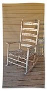 Old  Wooden  Rocking  Chair Beach Towel