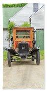 Old Woodie Model T Ford  Beach Towel