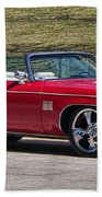 Oldsmobile Delta Royale 88 Red Convertible Beach Towel