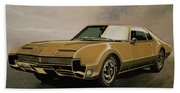 Oldsmobile Toronado 1965 Painting Beach Towel