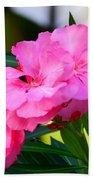 Oleander Blooming Beach Towel