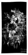 Oleander Flowers In Black And White 2 Beach Towel