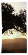 Olive At Sunset Beach Towel
