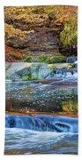 Olmsted Waterfalls Beach Towel