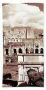 Colosseum From Roman Forums  Beach Sheet by Stefano Senise
