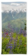 Olympic Mountain Wildflowers Beach Towel