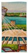 Olympic Stadium  Montreal Beach Towel